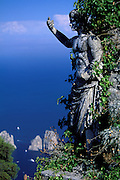 The summit of Monte Solaro, Capri Island, Bay of Naples, Italy