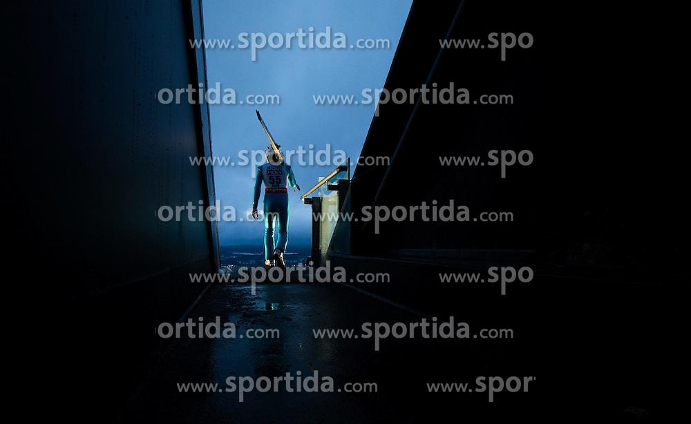 24.02.2015, Lugnet Ski Stadium, Falun, SWE, FIS Weltmeisterschaften Ski Nordisch, Skisprung, Herren, Training, im Bild Vincent Descombes Sevoie (FRA) // Vincent Descombes Sevoie of France during the Mens Skijumping Training of the FIS Nordic Ski World Championships 2015 at the Lugnet Ski Stadium, Falun, Sweden on 2015/02/24. EXPA Pictures © 2015, PhotoCredit: EXPA/ JFK