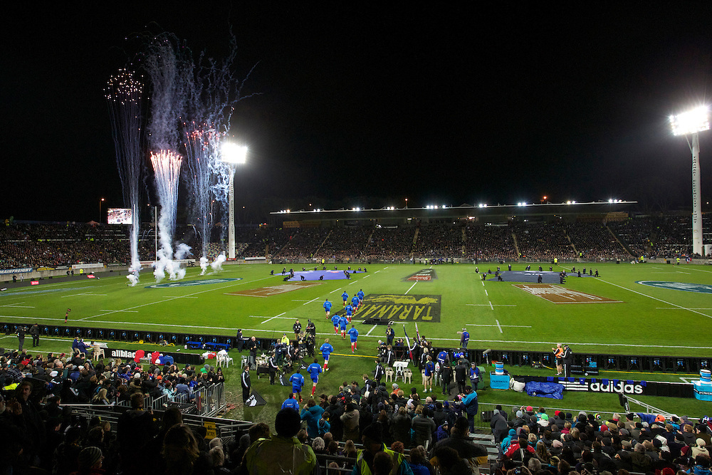 Fireworks for the French and New Zealand 3rd International Rugby Test, Yarrow Stadium, New Plymouth, New Zealand, Saturday, June 22, 2013. Credit:SNPA / Rob Tucker