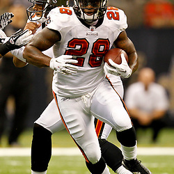 November 6, 2011; New Orleans, LA, USA; Tampa Bay Buccaneers running back Kregg Lumpkin (28) against the New Orleans Saints during the second quarter of a game at the Mercedes-Benz Superdome. Mandatory Credit: Derick E. Hingle-US PRESSWIRE