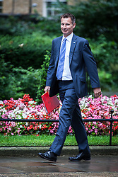 © Licensed to London News Pictures. 02/08/2016. London, UK. Secretary of State for Health Jeremy Hunt arrives on Downing Street for a meeting of the Cabinet Committee on Economy and Industrial Strategy. Photo credit: Rob Pinney/LNP
