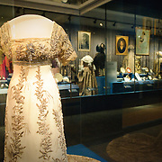 One of the many gowns on display at the First Ladies exhibit at the at the National Museum of American History at the Smithsonian Institution