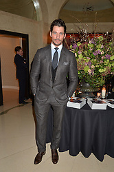 DAVID GANDY at a reception hosted by The Rake Magazine and Claridge's to celebrate London Collections 2015 held at Claridge's, Brook Street, London on 8th January 2015.