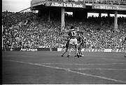 All Ireland Hurling Finals.1986..07.09.1986..09.07.1986..7th September 1986..September,every year,is the highlight of the GAA calendar with The All Ireland Finals being held in both codes. The senior and minor finals in each code are both played for on the same day. Each finalist has battled through provinical and knock out stages to reach the final.It is widely regarded as the pinnacle of a players career to reach and win an All Ireland Championship..In this years hurling finals,Cork played Offaly in the minor championship and a much fancied Galway team took on Cork in the senior final. Both matches were well fought and close encounters...Photograph of both forwards and backs as they tussle for control of the ball in the Galway goal area..Cork emerged triumphant with a score of 4.13 (25) to Galways 2.15 (21).