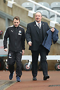 Newcastle United manager Rafael Benitez arrives ahead of the Premier League match between Newcastle United and Southampton at St. James's Park, Newcastle, England on 10 March 2018. Picture by Craig Doyle.