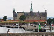 Kronborg castle seen from the Scandlines ferry to Helsingborg (Sweden).