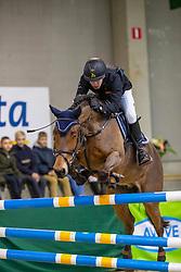 Bruyninckx Brecht, BEL, Iyuno van't Daelderhof<br /> Nationaal Indoor Kampioenschap Pony's LRV <br /> Oud Heverlee 2019<br /> © Hippo Foto - Dirk Caremans<br /> 09/03/2019