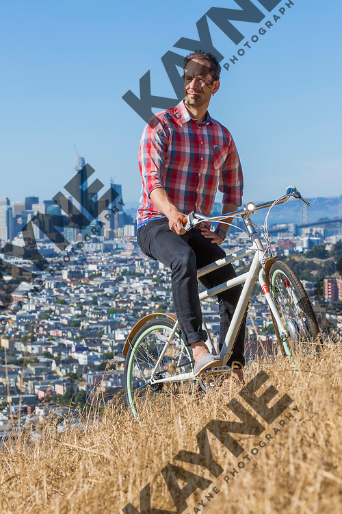 Adam Vollmer, founder of Faraday Bikes, Sunday, June 18, 2017 in San Francisco, CA.