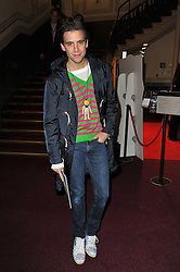 Singer MIKA at the opening night of Totem by Cirque du Soleil held at The Royal Albert Hall, London on 5th January 2011.