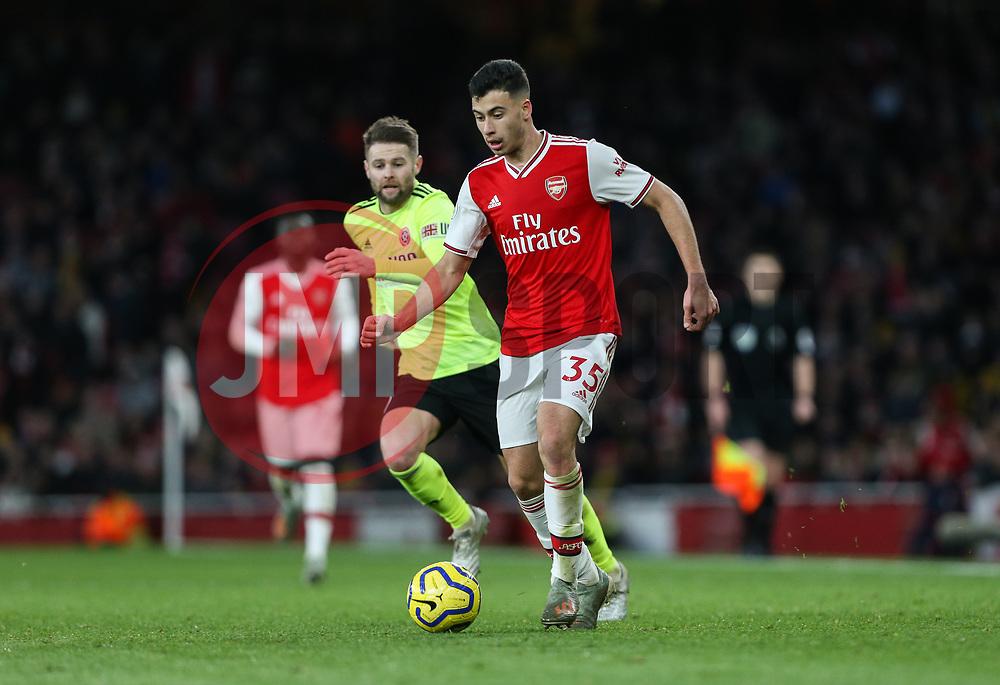 Gabriel Martinelli of Arsenal on the ball - Mandatory by-line: Arron Gent/JMP - 18/01/2020 - FOOTBALL - Emirates Stadium - London, England - Arsenal v Sheffield United - Premier League