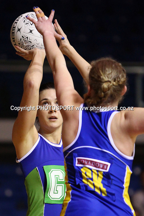 Auckland Waitakere's Bridgette Tapene in action. Lion Foundation Netball Championship. First Grade Division 1 match. Auckland Waitakere v Otago. Trusts Stadium, Auckland, New Zealand. Thursday 30th September 2010. Photo: Anthony Au-Yeung / photosport.co.nz