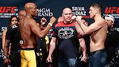 UFC 183 weigh ins