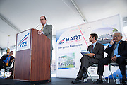 Metropolitan Transportation Commission Executive Director Steve Heminger gives a speech during VTA's BART Silicon Valley Extension Celebration in San Jose, California, on August 20, 2014. (Stan Olszewski/SOSKIphoto)