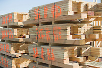 Stack of wooden planks