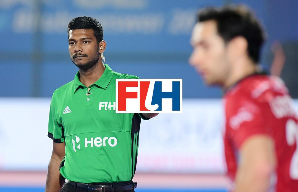 Odisha Men's Hockey World League Final Bhubaneswar 2017<br /> Match id:13<br /> Belgium v India<br /> Foto: Umpire Rawi Anbananthan<br /> COPYRIGHT WORLDSPORTPICS FRANK UIJLENBROEK
