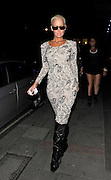 24.FEBRUARY.2011. LONDON<br /> <br /> AMBER ROSE LEAVING THE MAYFAIR HOTEL IN AN ALL IN ONE CAT SUIT.<br /> <br /> BYLINE: EDBIMAGEARCHIVE.COM<br /> <br /> *THIS IMAGE IS STRICTLY FOR UK NEWSPAPERS AND MAGAZINES ONLY*<br /> *FOR WORLD WIDE SALES AND WEB USE PLEASE CONTACT EDBIMAGEARCHIVE - 0208 954 5968*