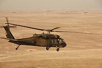 Blackhawk over Iraq, near Ramadi