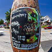 Fisheye of Westport Road, Kansas City, Sunday July 10, 2011.