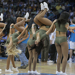 20 March 2009: New Orleans Hornets Honeybees dance team performs during a 96-84 win by the New Orleans Hornets over the Memphis Grizzlies at the New Orleans Arena in New Orleans, Louisiana.