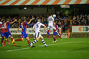 Forest Green Rovers Rhys Murphy(39) scores from a header but goal disallowed during the Vanarama National League match between Aldershot Town and Forest Green Rovers at the EBB Stadium, Aldershot, England on 4 October 2016. Photo by Shane Healey.
