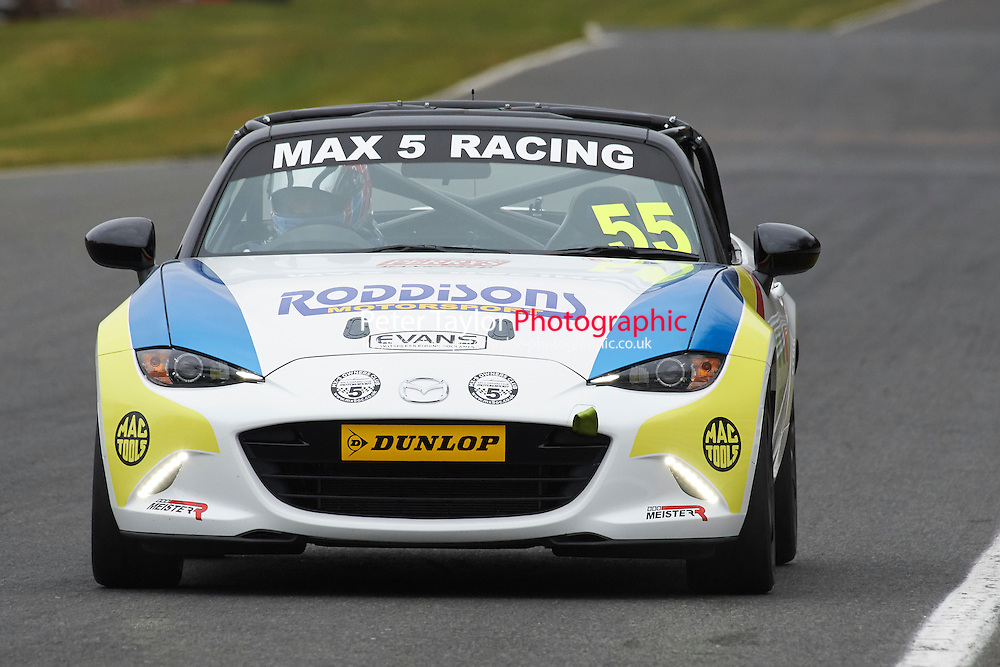 #55 Paul RODDISON Mazda MX5 Mk4 2000 during Max 5 Championship as part of the BARC NW - Championship Raceday  at Oulton Park, Little Budworth, Cheshire, United Kingdom. March 19 2016. World Copyright Peter Taylor/PSP. Copy of publication required for printed pictures.  Every used picture is fee-liable. http://archive.petertaylor-photographic.co.uk