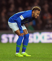 Football - 2018 / 2019 International Friendly - Brazil vs. Cameroon<br /> <br /> Neymar of Brazil feels the pain in his knee injury and is substituted after only 5 minutes, at Stadium MK, Milton Keynes,<br /> <br /> COLORSPORT/ANDREW COWIE