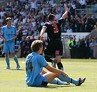 Photo: Steve Bond.<br />Coventry City v West Bromwich Albion. Coca Cola Championship. 28/04/2007. Paul Robinson (£) celebrates.  Ben Turner (seated) doesn't