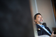 Robert de Neve talks about local manufacturing during the Silicon Valley Business Journal Power of Manufacturing Breakfast at the Silicon Valley Capital Club in San Jose, California, on January 24, 2017. (Stan Olszewski for Silicon Valley Business Journal)