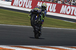 November 11, 2017 - Cheste, Spain - Valentino Rossi (Movistar Yamaha MotoGP)  during qualifying session at Valencia Motogp (Credit Image: © Gaetano Piazzolla/Pacific Press via ZUMA Wire)