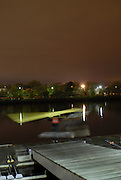 Boston, Massachusetts, USA. Early morning training session, on thursday 19/10/2006 , Crews boating from the, Riverside Rowing Club. Preparing for the, 2006, Head of the Charles,  Photo  Peter Spurrier/Intersport Images...[Mandatory Credit, Peter Spurier/ Intersport Images] Rowing Course; Charles River. Boston. USA Sunrise, Sunsets, Silhouettes Equipment