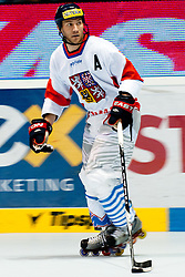 Karel Rachunek of Czech Republic at IIHF In-Line Hockey World Championships 2011 Top Division Gold medal game between National teams of Czech republic and USA on June 25, 2011, in Pardubice, Czech Republic. (Photo by Matic Klansek Velej / Sportida)