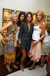 Left to right, models TEREZA SBROVA, JAMIE GUNNS, NATASHA GILBERT and OLIVIA INGE at a party hosted by Links at their store in Sloane Square, London to celebrate the forthcoming Glorious Goodwood Racing festival held on 26th July 2006.<br />
