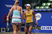 SEPTEMBER 21: Arina Rodionova of Australia and Olga Savchuk of Ukraine competes against Nicole Melichar of USA  and Varatchaya Wongteanchai of Thailand during women's double match day three of the Toray Pan Pacific Open at Ariake Colosseum on September 21, 2016 in Tokyo, Japan 21/09/2016-Tokyo, JAPAN