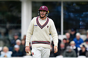Matt Renshaw of Somerset during the opening day of the Specsavers County Champ Div 1 match between Somerset County Cricket Club and Hampshire County Cricket Club at the Cooper Associates County Ground, Taunton, United Kingdom on 11 May 2018. Picture by Graham Hunt.