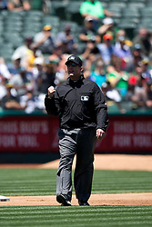 OAKLAND, CA - MAY 27:  MLB umpire Jeff Kellogg #8 stands on the field during the fourth inning between the Oakland Athletics and the Detroit Tigers at O.co Coliseum on May 27, 2015 in Oakland, California. The Detroit Tigers defeated the Oakland Athletics 3-2. (Photo by Jason O. Watson/Getty Images) *** Local Caption *** Jeff Kellogg