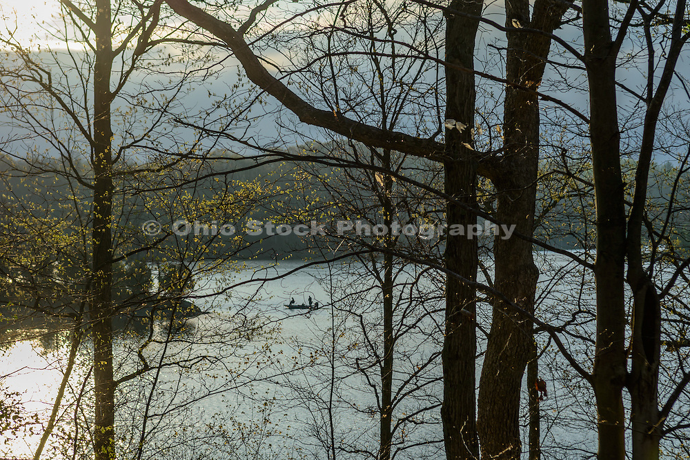 Photo of boat on Caesar Creek Lake at Caesar Creek State Park, near Waynesville, Ohio, in Warren County.