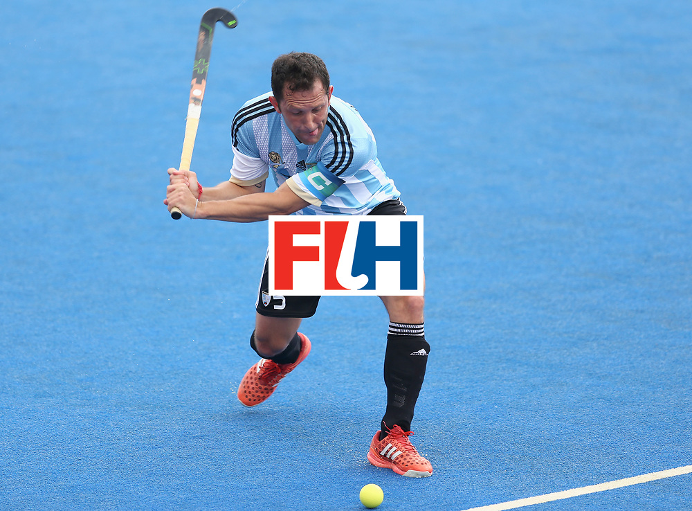 LONDON, ENGLAND - JUNE 25:  Pedro Ibarra of Argentina in action during the final match between Argentina and the Netherlands on day nine of the Hero Hockey World League Semi-Final at Lee Valley Hockey and Tennis Centre on June 25, 2017 in London, England.  (Photo by Steve Bardens/Getty Images)