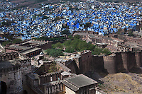 Meherangarh Fort in the beautiful city of jodhpur in rajasthan state in india