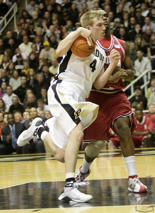 21 February 2009: Purdue forward Robbie Hummel (4) as the Indiana Hoosiers played the Purdue Boilermakers in a college basketball game in West Laffayette, Ind.