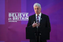 © Licensed to London News Pictures . 23/03/2015 . Middleton , UK . UKIP PPC for Heywood and Middleton JOHN BICKLEY . UKIP leader Nigel Farage , Deputy Leader Paul Nuttall and Economics Spokesman Patrick O'Flynn announce UKIP's economic policy at Concept Metal Products and Co Ltd in Middleton , Lancashire . Photo credit : Joel Goodman/LNP