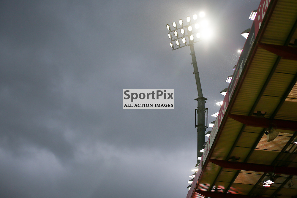 The lights at the vitality stadium During Bournemouth vs Manchester United on Saturday the 12th December 2015.