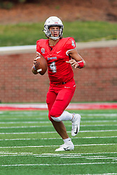 NORMAL, IL - October 06:  Brady Davis during a college football game between the ISU (Illinois State University) Redbirds and the Western Illinois Leathernecks on October 06 2018 at Hancock Stadium in Normal, IL. (Photo by Alan Look)
