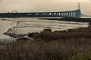 Saint Nazaire, 29/10/2014:  ponte sull'estuario della Loira - bridge above Loire estuary