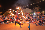 A fire preformance at a festival. Photographed in Israel, Kfar Yona