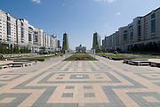 Modern architekture at Bayterek Tower, Astana, Kazakhstan