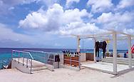 Relaxen op eerste dag aan Jan Tiel baai, Curaçao 2014