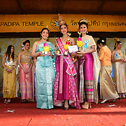 London, UK. 14th April, 2019. Winner of Miss Songkran London 2019 - Celebrates Thai New Year (Songkran) at Buddhapadipa Temple in Wimbledon known as Songkran Water Festival, London, UK.