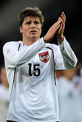 09-02-2011 VOETBAL: NEDERLAND - OOSTENRIJK: EINDHOVEN<br /> Netherlands in a friendly match with Austria won 3-1 / Sebastian Prodl AUT<br /> ©2011-WWW.FOTOHOOGENDOORN.NL