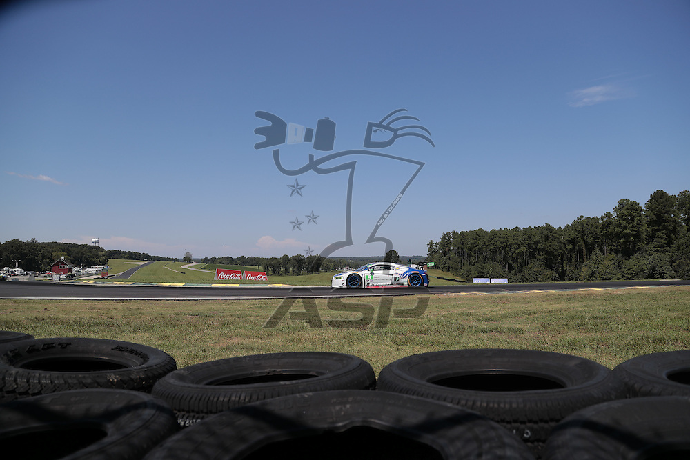 Alton, VA - Aug 28, 2016:  The IMSA WeatherTech SportsCar Championship teams take to the track for a practice session for the Michelin GT Challenge at VIR at Virginia International Raceway in Alton, VA.