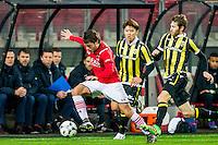 ALKMAAR - 06-02-2016, AZ - Vitesse, AFAS Stadion, 1-0, AZ speler Joris van Overeem, Vitesse speler Kosuke Ota